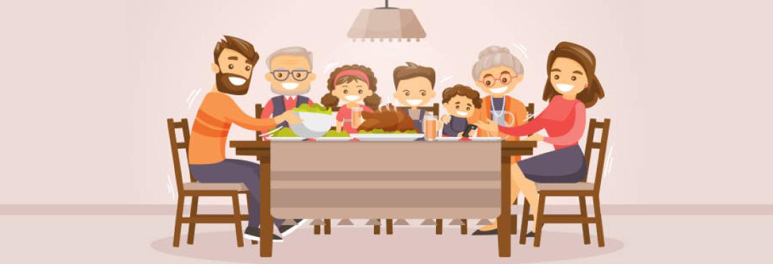 family, community, dinner
